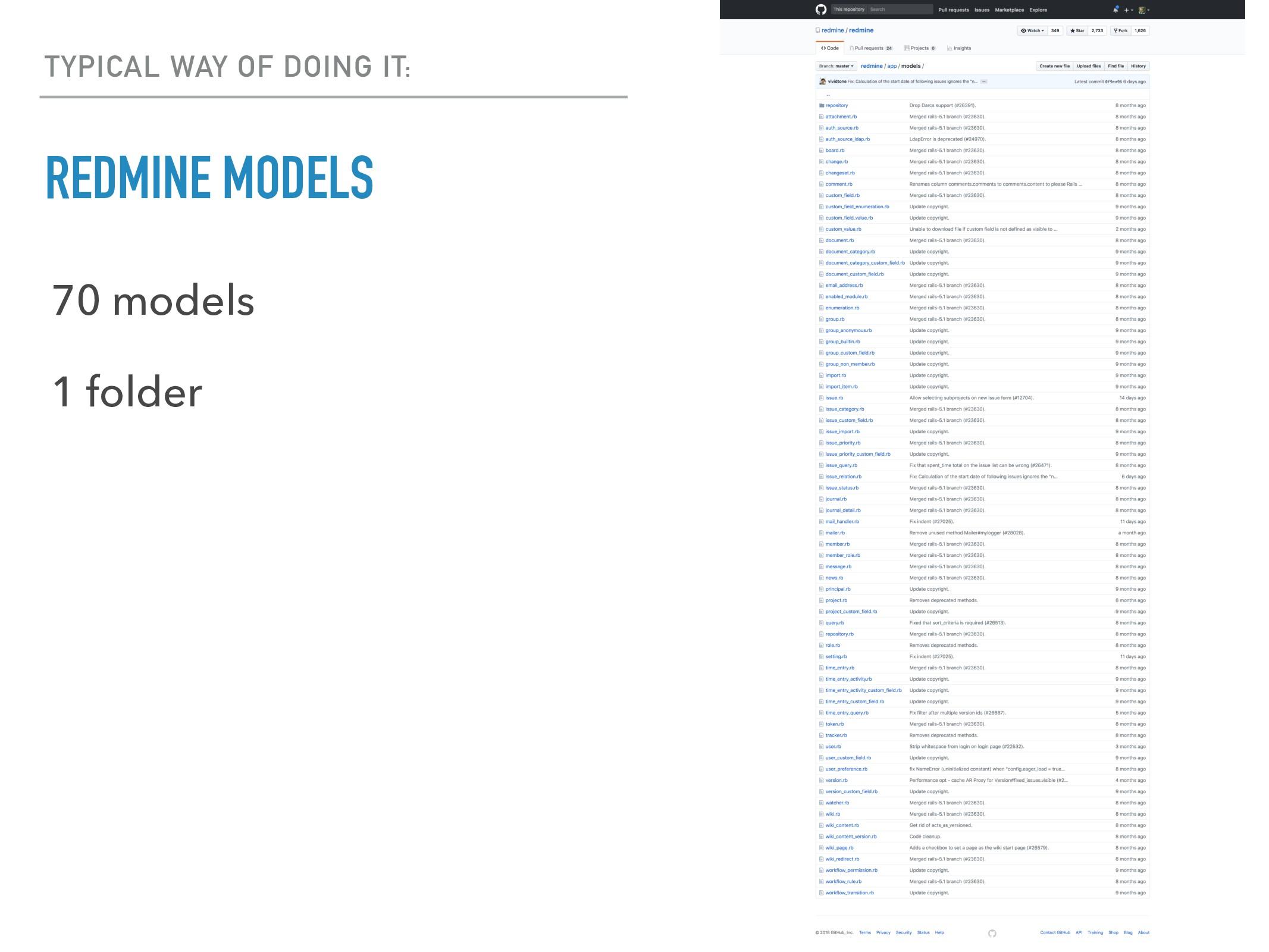 REDMINE MODELS 70 models 1 folder TYPICAL WAY O...