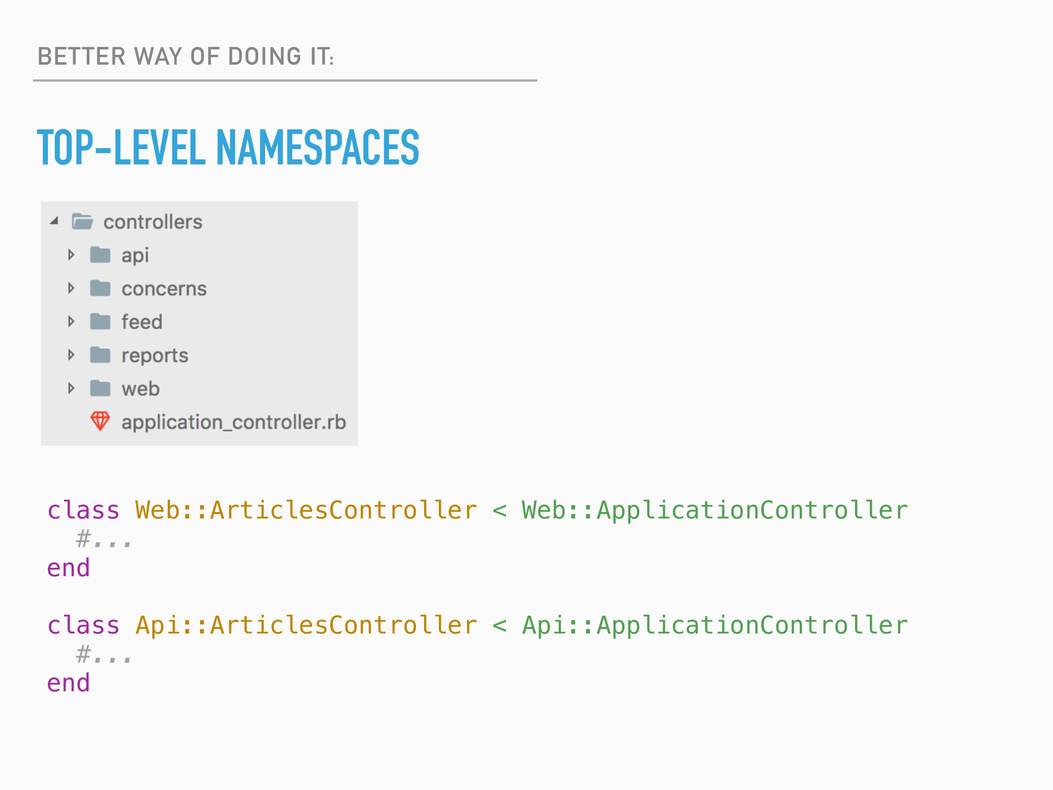 BETTER WAY OF DOING IT: TOP-LEVEL NAMESPACES cl...