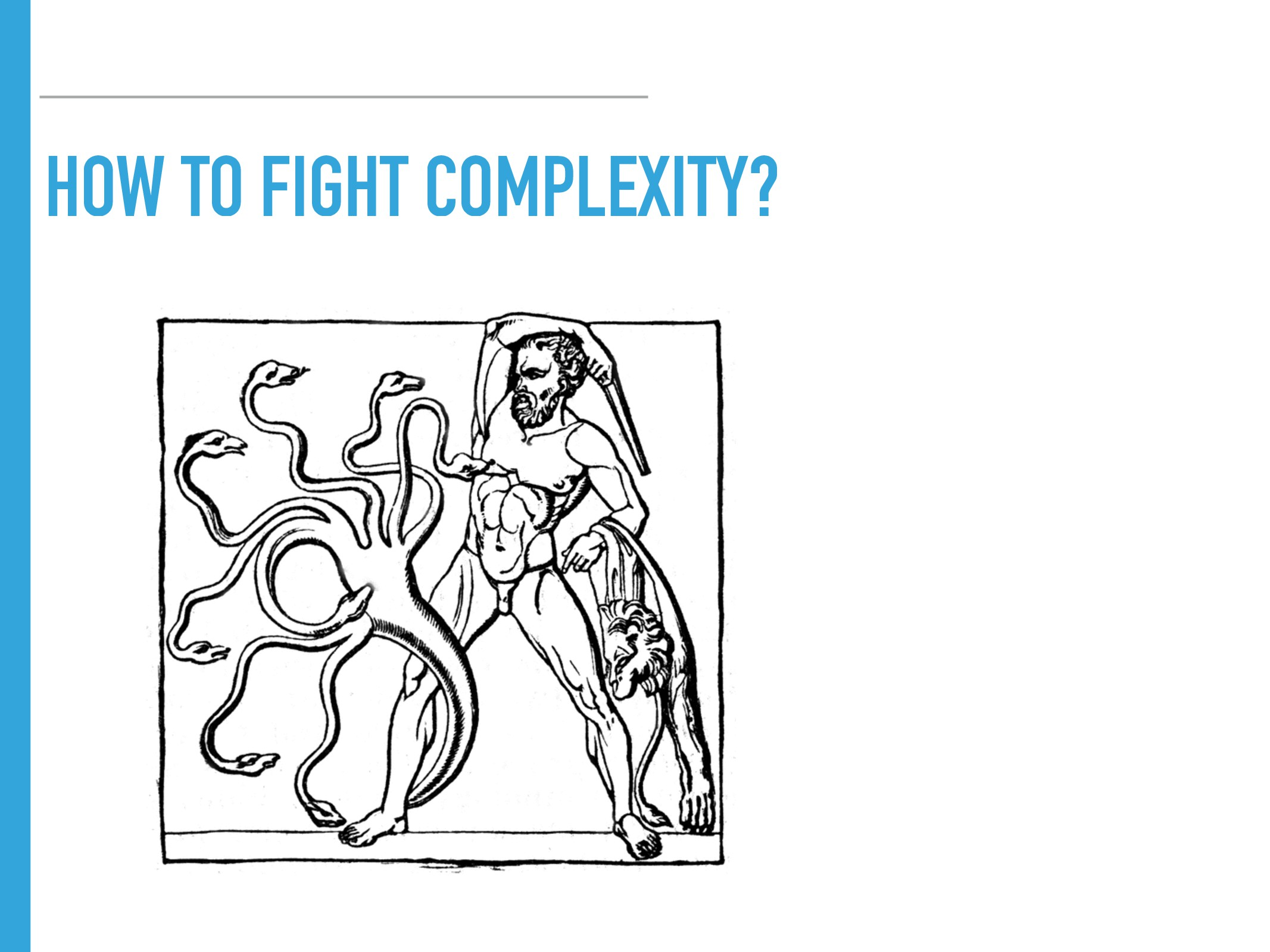HOW TO FIGHT COMPLEXITY?