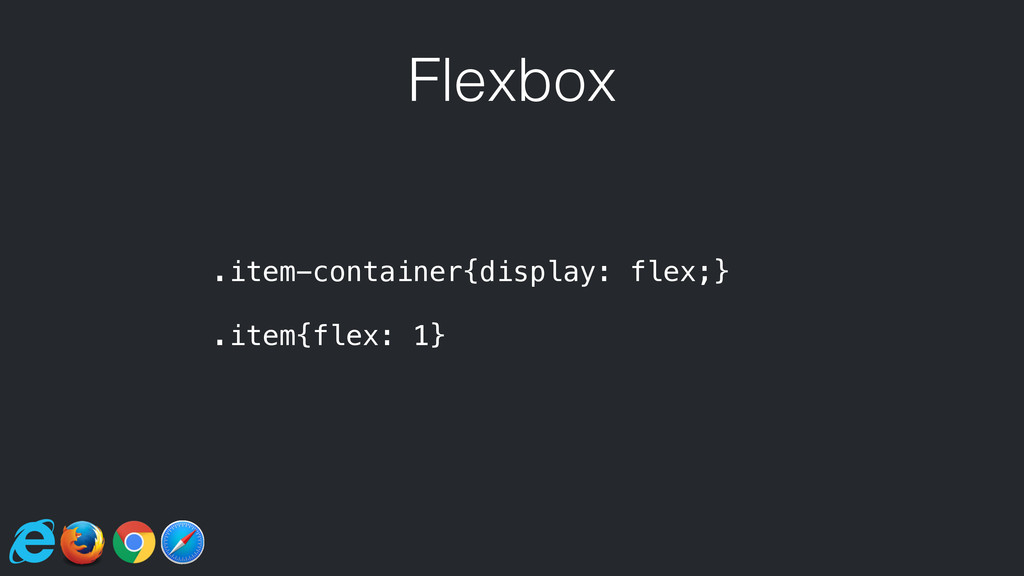 Flexbox .item-container{display: flex;} .item{f...