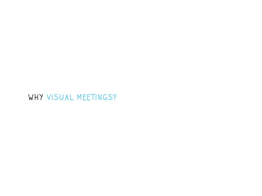 WHY VISUAL MEETINGS?