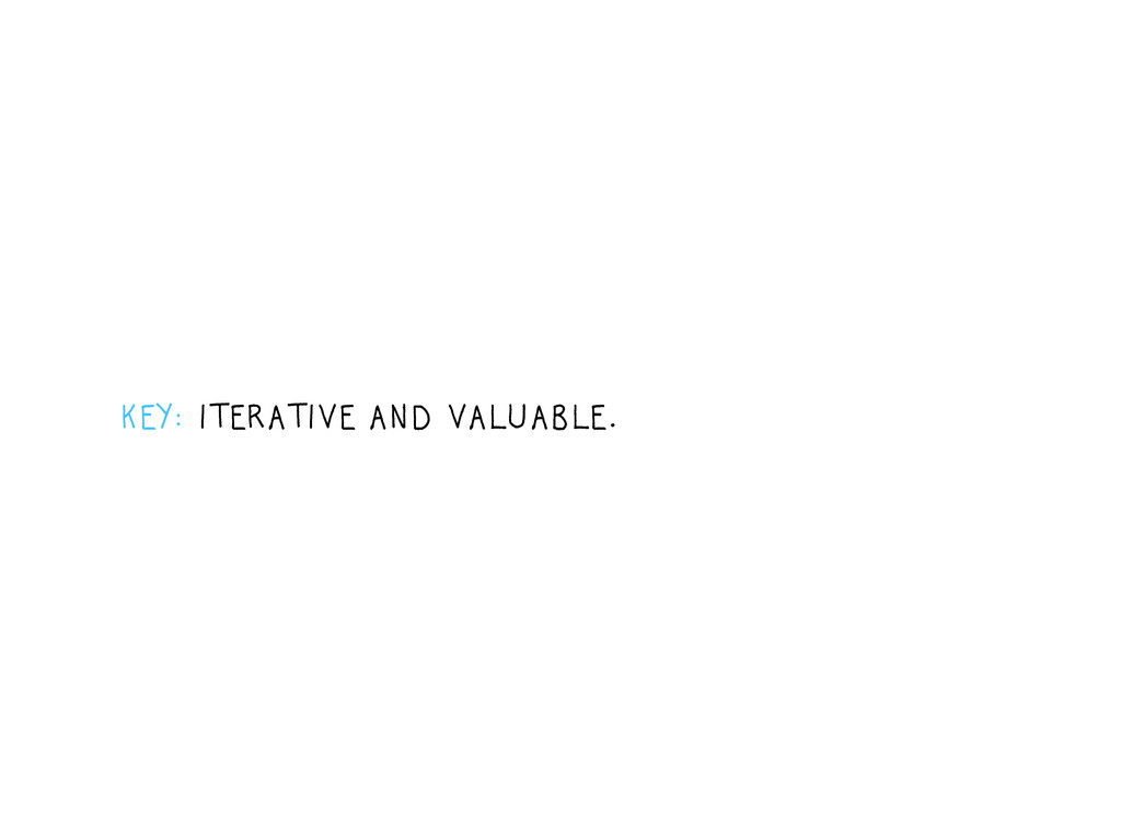KEY: ITERATIVE AND VALUABLE.