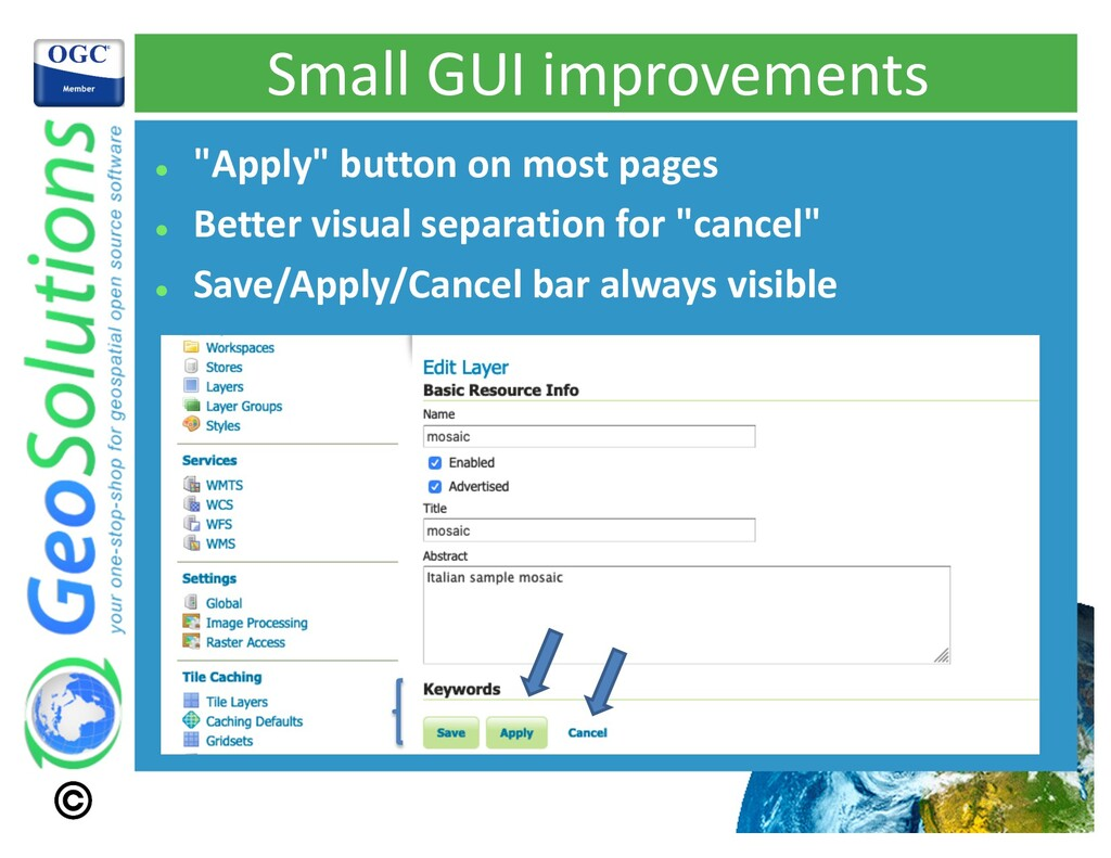 """Small GUI improvements l """"Apply"""" button on most..."""