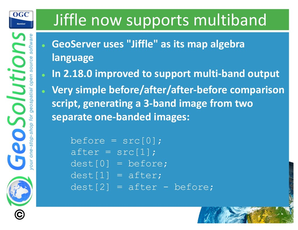 Jiffle now supports multiband l GeoServer uses ...
