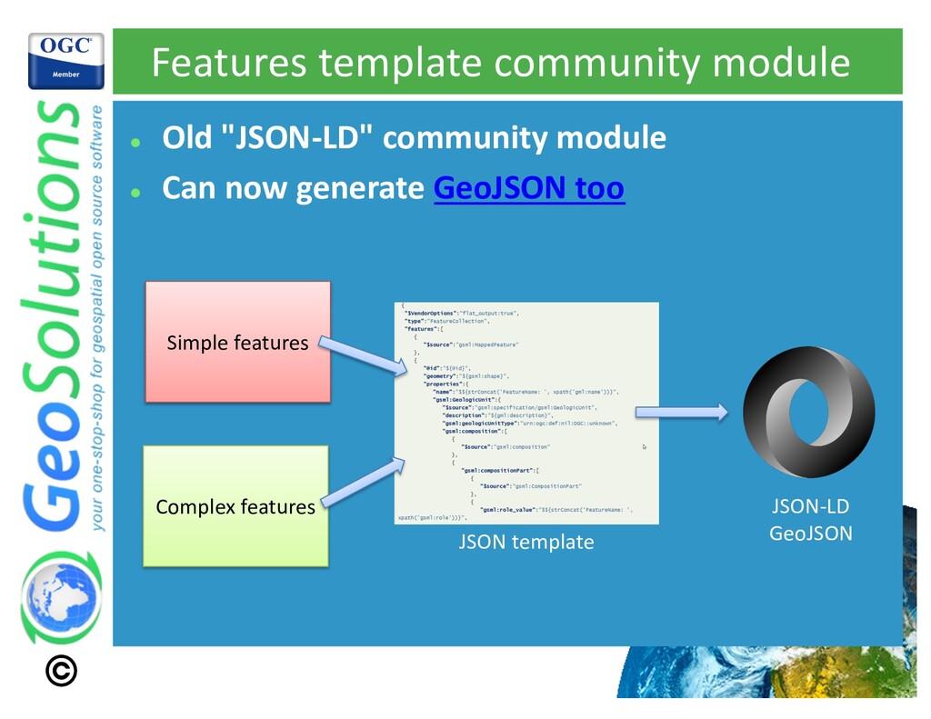 "Features template community module l Old ""JSON-..."