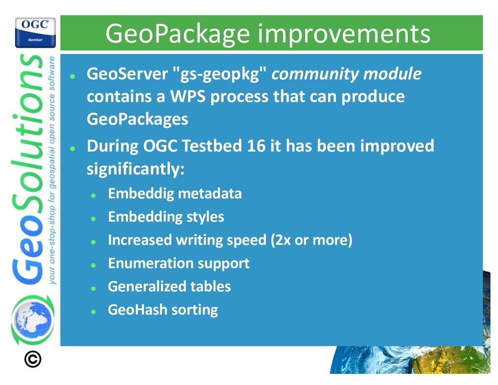 "GeoPackage improvements l GeoServer ""gs-geopkg""..."