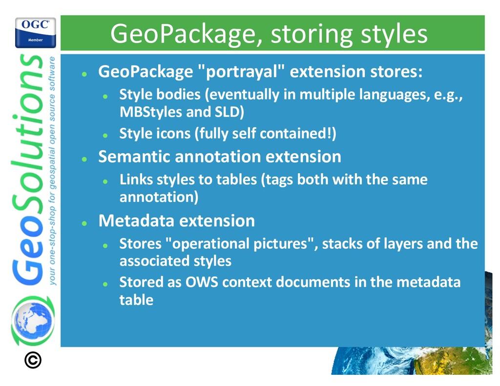 "GeoPackage, storing styles l GeoPackage ""portra..."