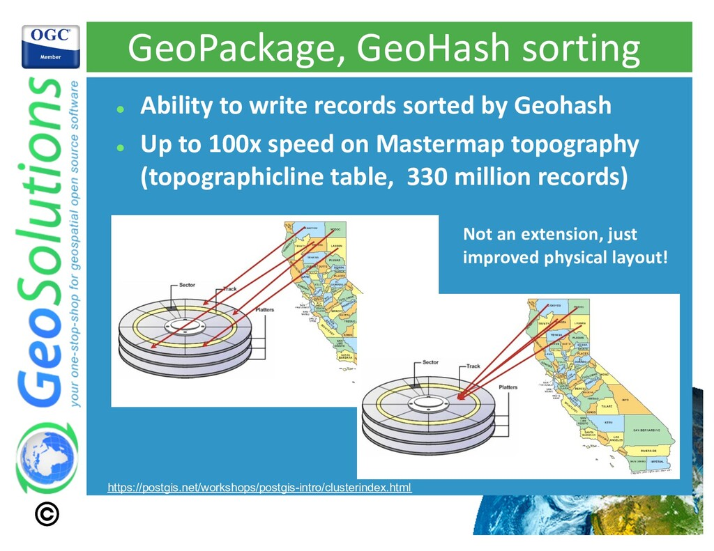 GeoPackage, GeoHash sorting l Ability to write ...