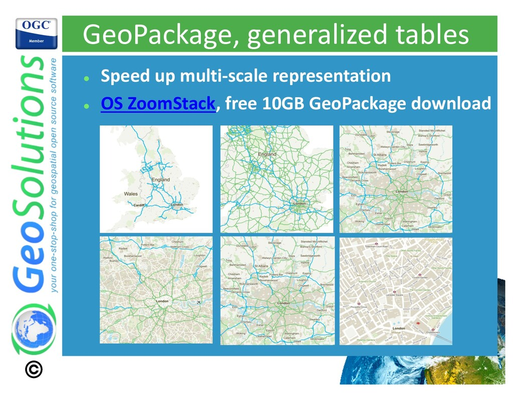 GeoPackage, generalized tables l Speed up multi...
