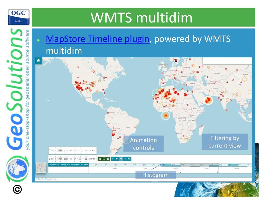 WMTS multidim l MapStore Timeline plugin, power...