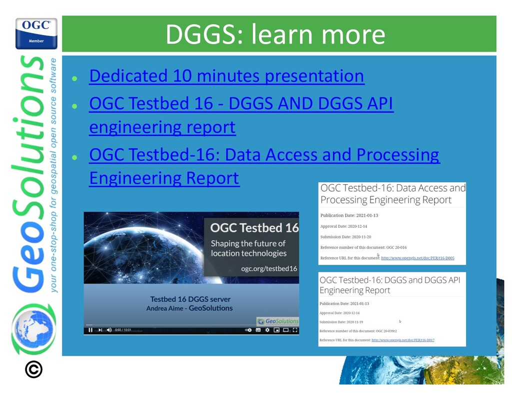 DGGS: learn more l Dedicated 10 minutes present...