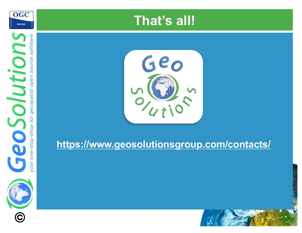 That's all! https://www.geosolutionsgroup.com/c...