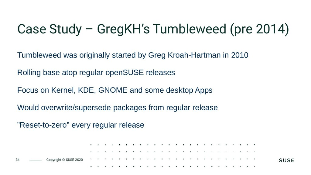Copyright © SUSE 2020 34 Case Study – GregKH's ...