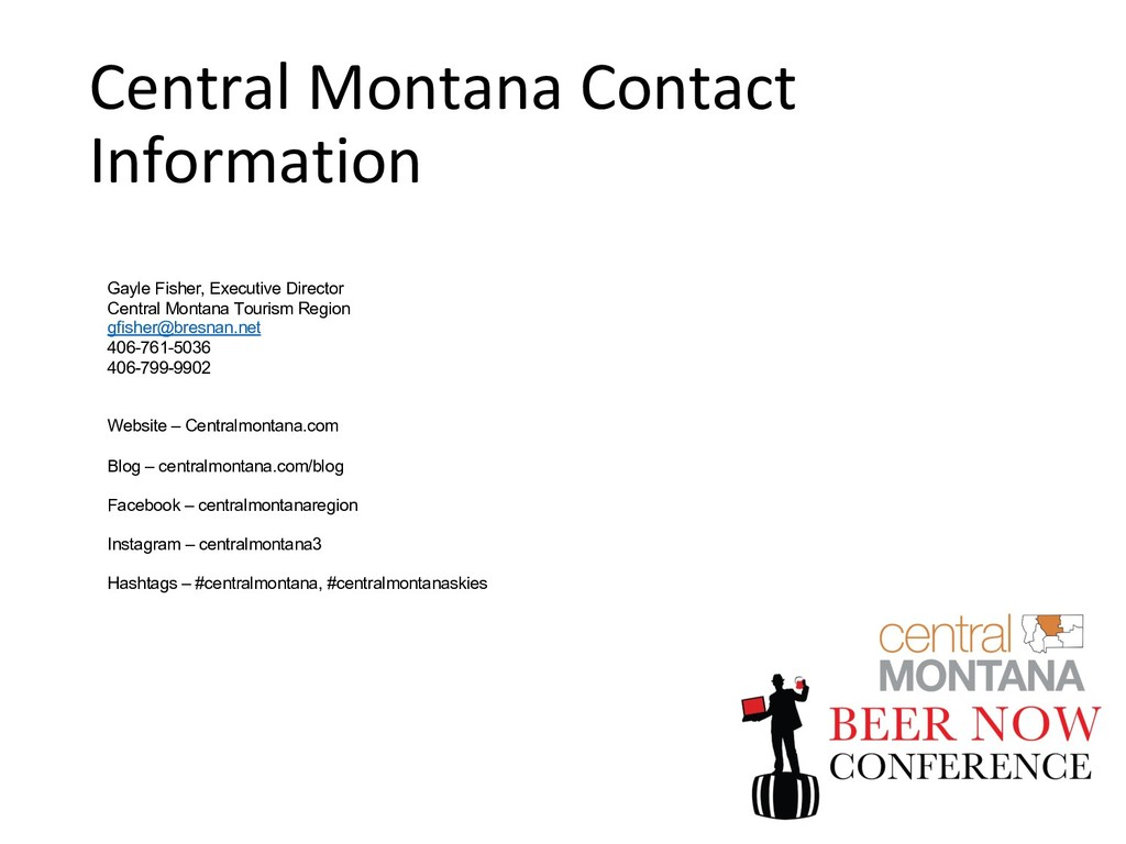 Central Montana Contact Information Gayle Fishe...