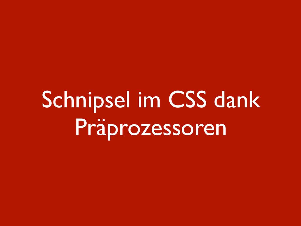 Schnipsel im CSS dank Präprozessoren