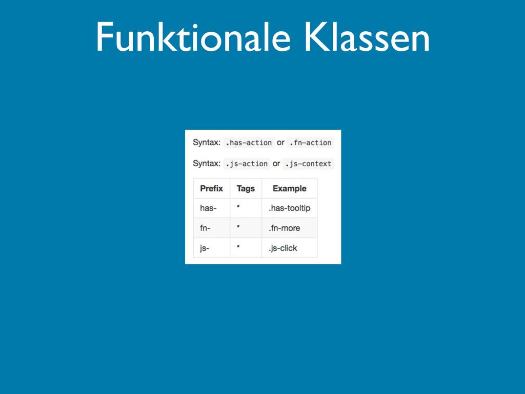 Funktionale Klassen