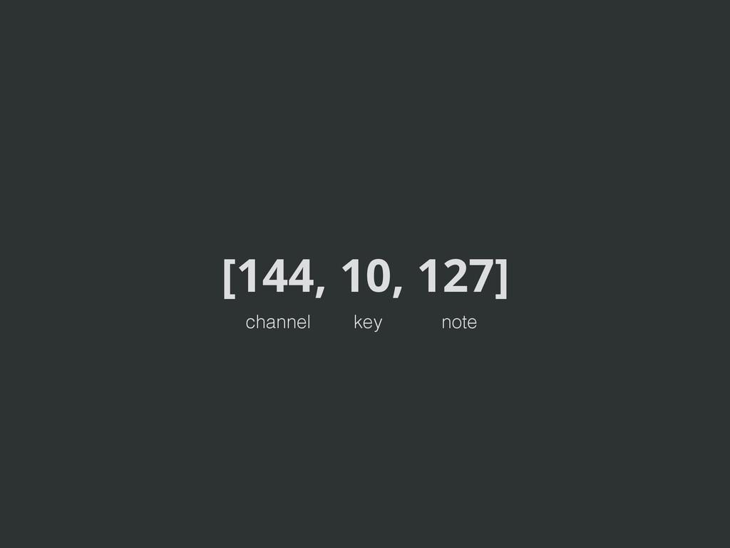 [144, 10, 127] channel key note