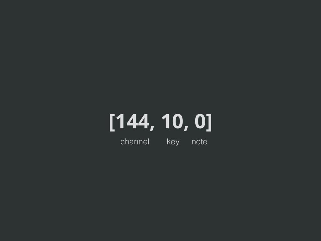 [144, 10, 0] channel key note
