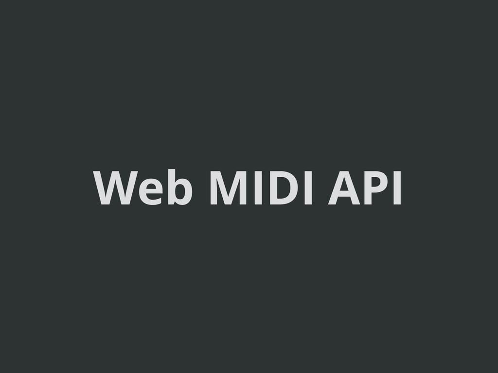 Web MIDI API