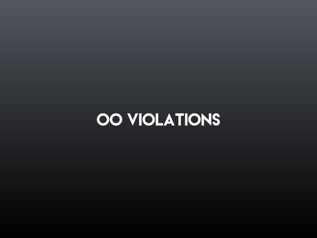 oo violations