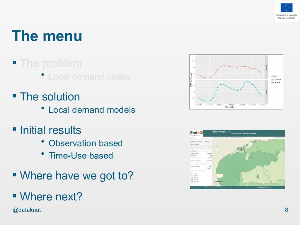 @dataknut The menu  The problem · Local demand...