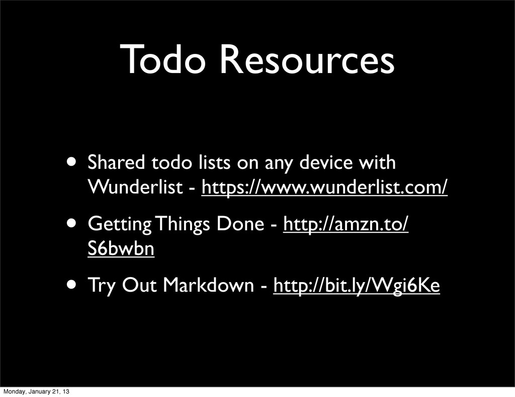 Todo Resources • Shared todo lists on any devic...