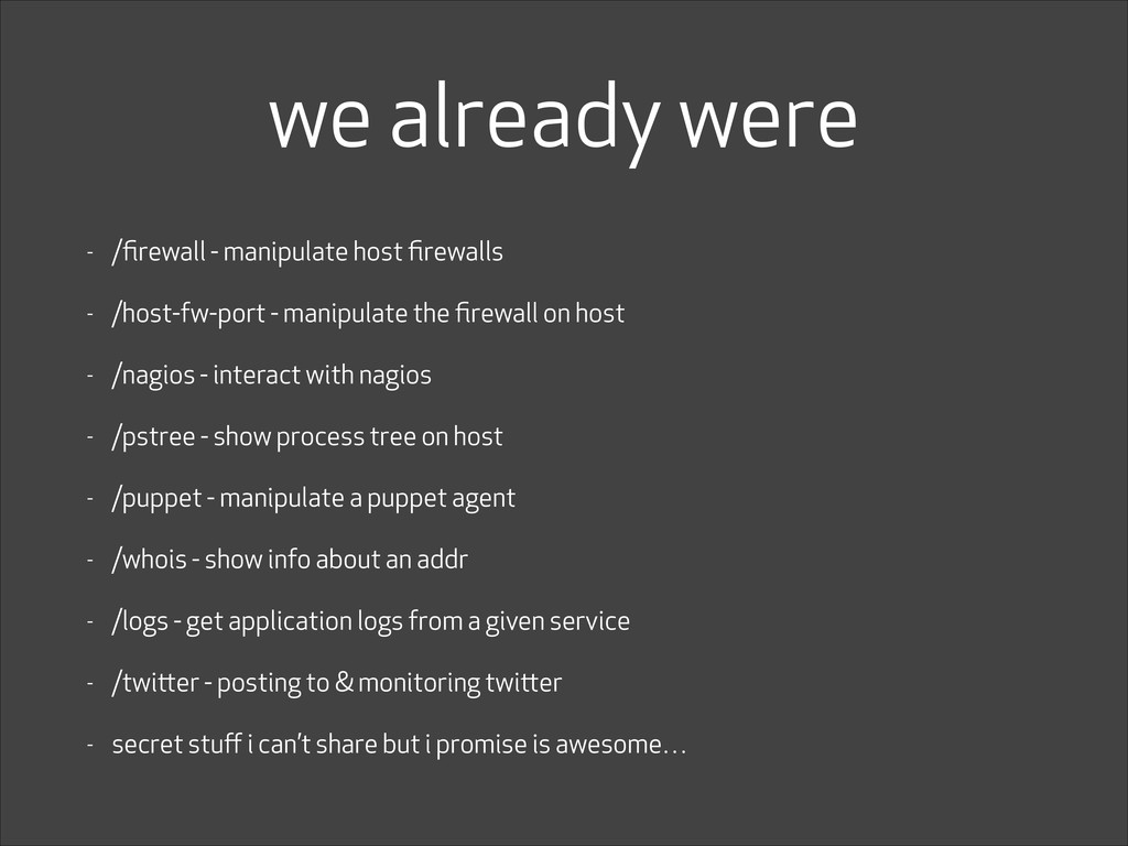we already were - /firewall - manipulate host fir...