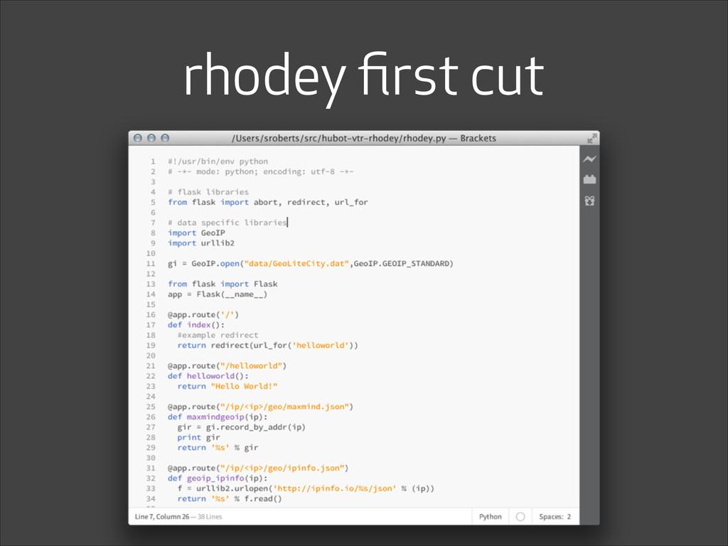 rhodey first cut