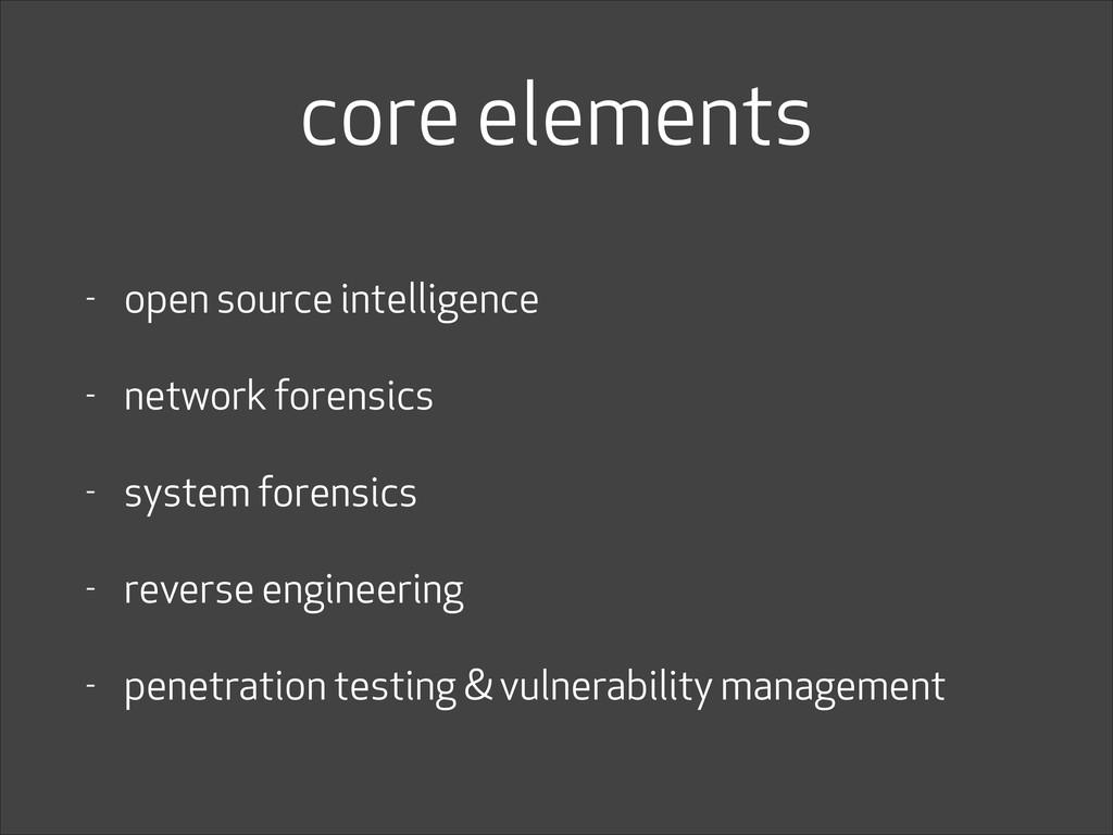 core elements - open source intelligence - netw...