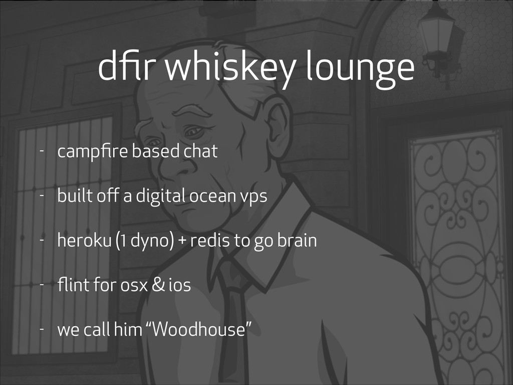 dfir whiskey lounge - campfire based chat - built...