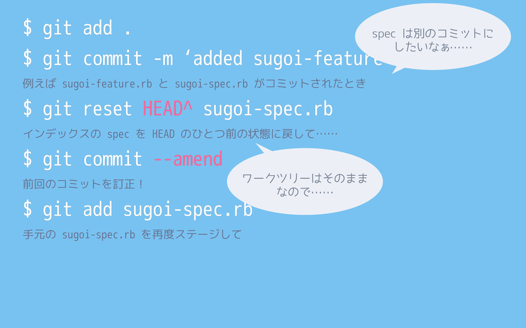 $ git add . $ git commit -m 'added sugoi-featur...