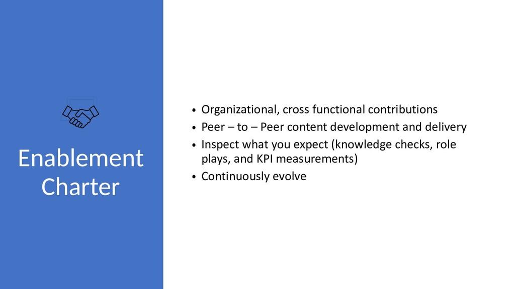 Enablement Charter • Organizational, cross func...