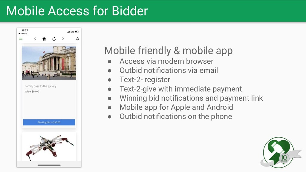 Mobile Access for Bidder Mobile friendly & mobi...