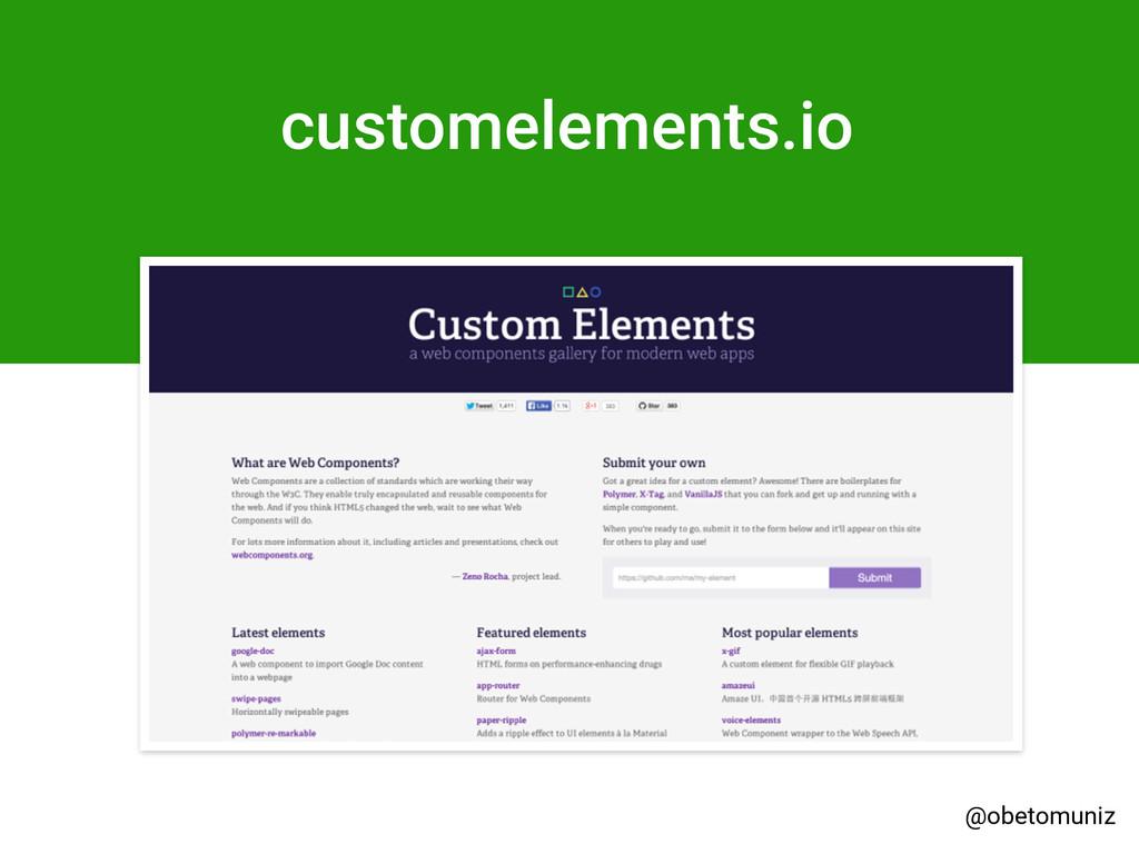customelements.io @obetomuniz