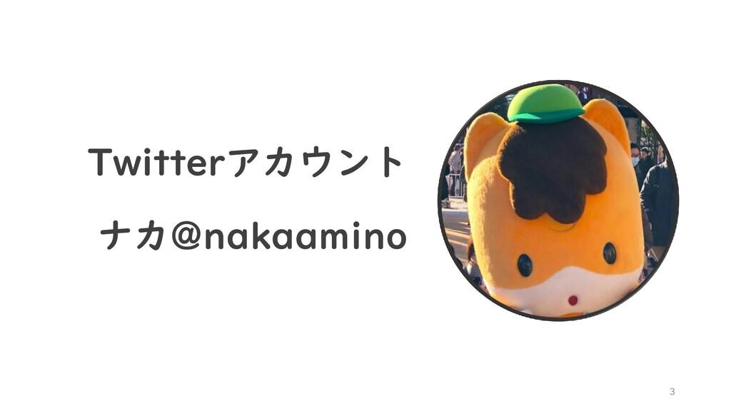 3 Twitterアカウント ナカ@nakaamino