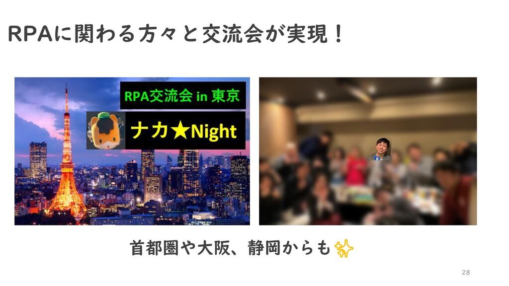 28 RPAに関わる方々と交流会が実現! 首都圏や大阪、静岡からも✨