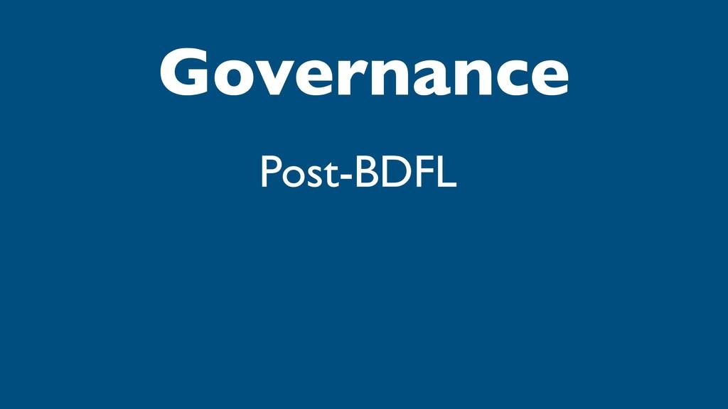Governance Post-BDFL
