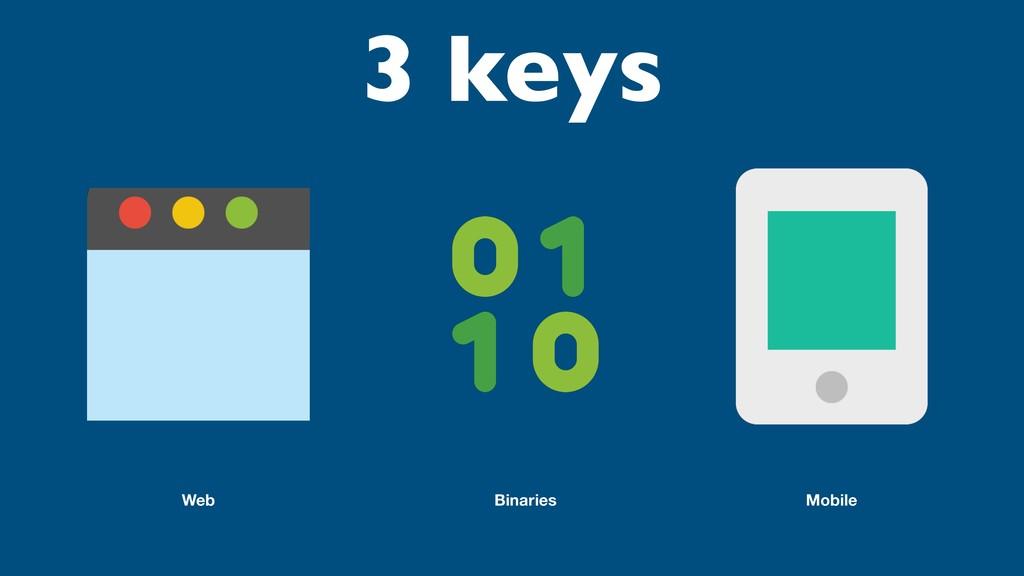 Web Binaries Mobile 3 keys