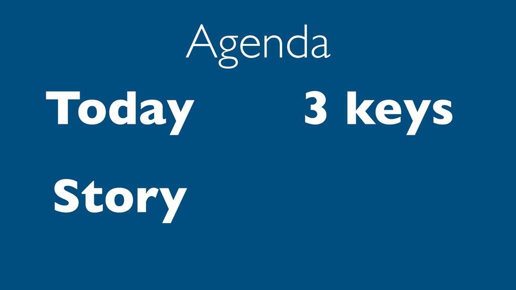 Today Story Agenda 3 keys
