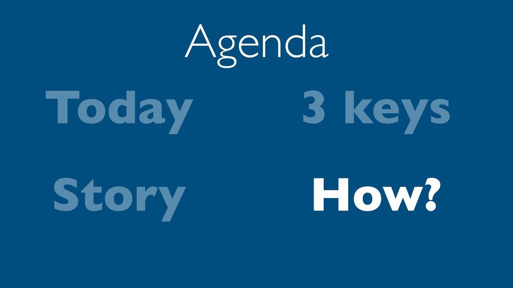 Today Story Agenda 3 keys How?