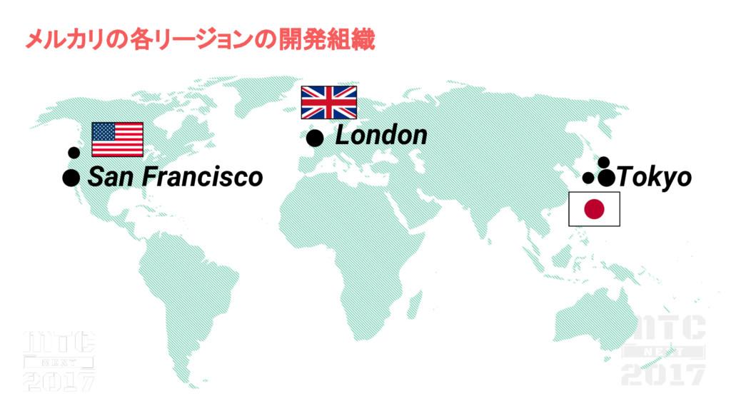 メルカリ 各リージョン 開発組織 San Francisco London Tokyo