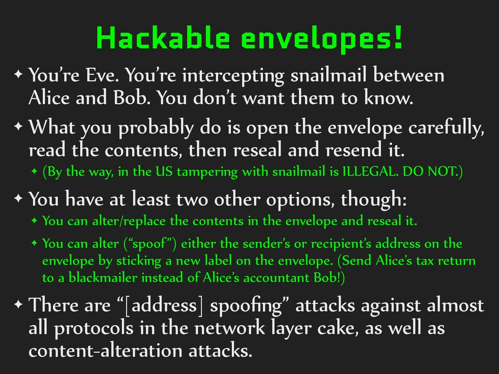 Hackable envelopes! ✦ You're Eve. You're interc...