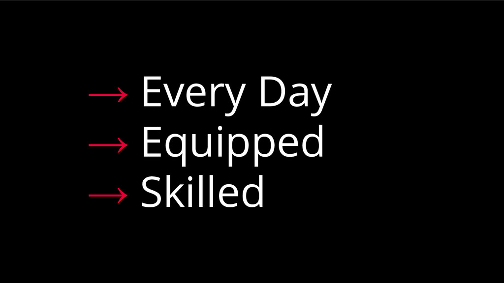 → Every Day → Equipped → Skilled