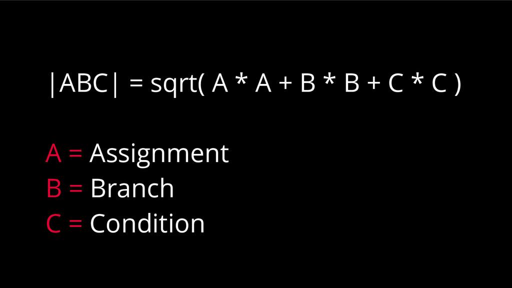 |ABC| = sqrt( A * A + B * B + C * C ) A = Assig...