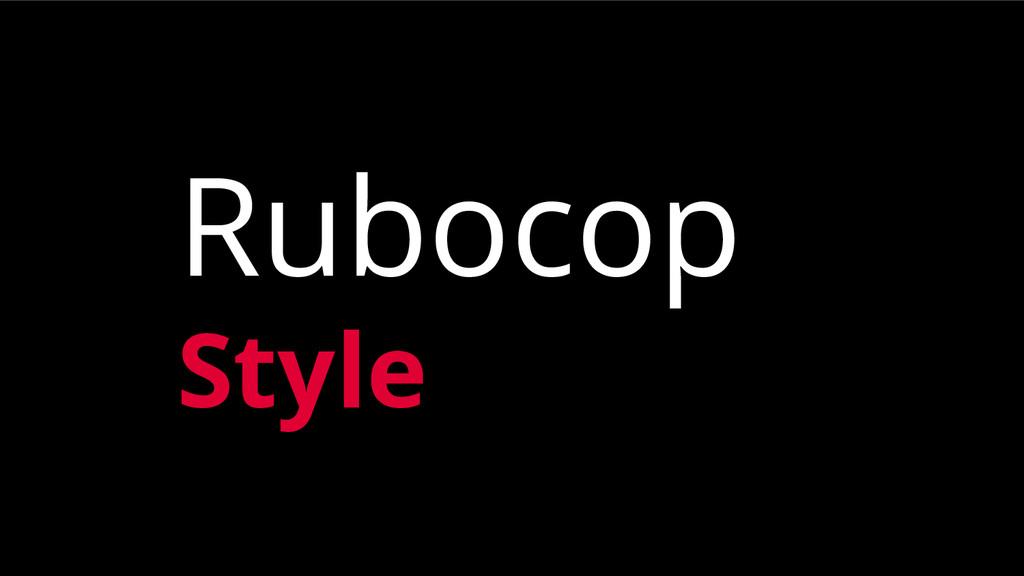 Rubocop Style