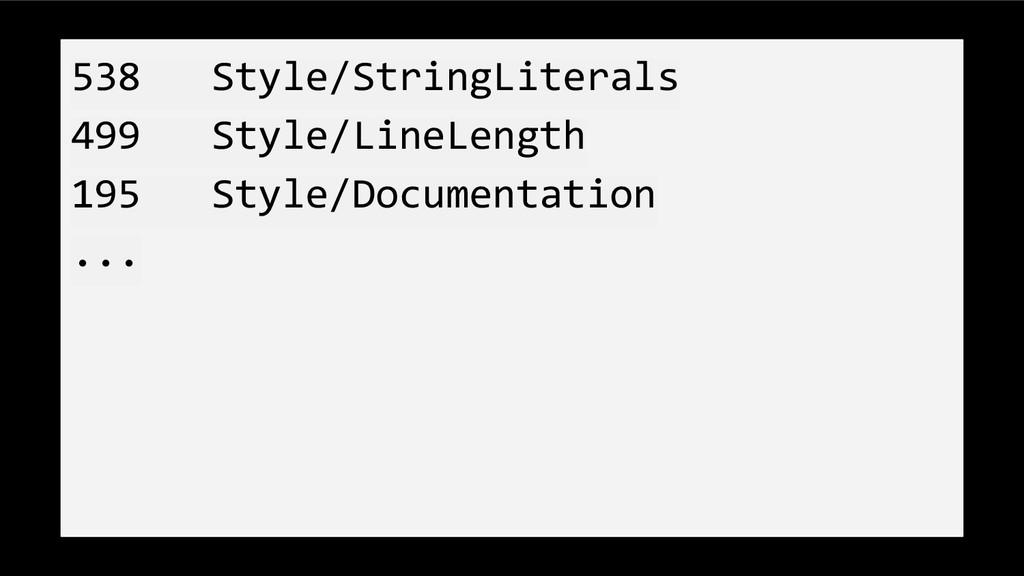 538 Style/StringLiterals 499 Style/LineLength 1...