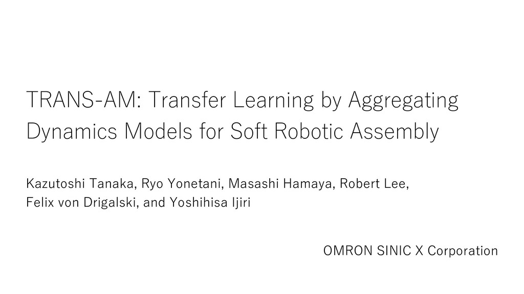 TRANS-AM: Transfer Learning by Aggregating Dyna...