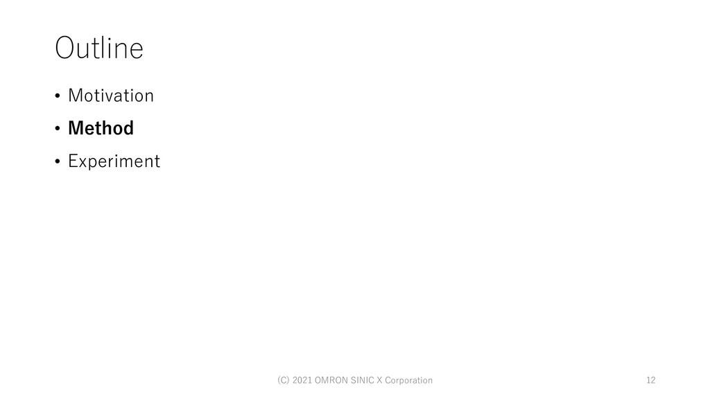 Outline • Motivation • Method • Experiment 12 (...