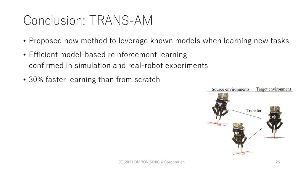 Conclusion: TRANS-AM • Proposed new method to l...