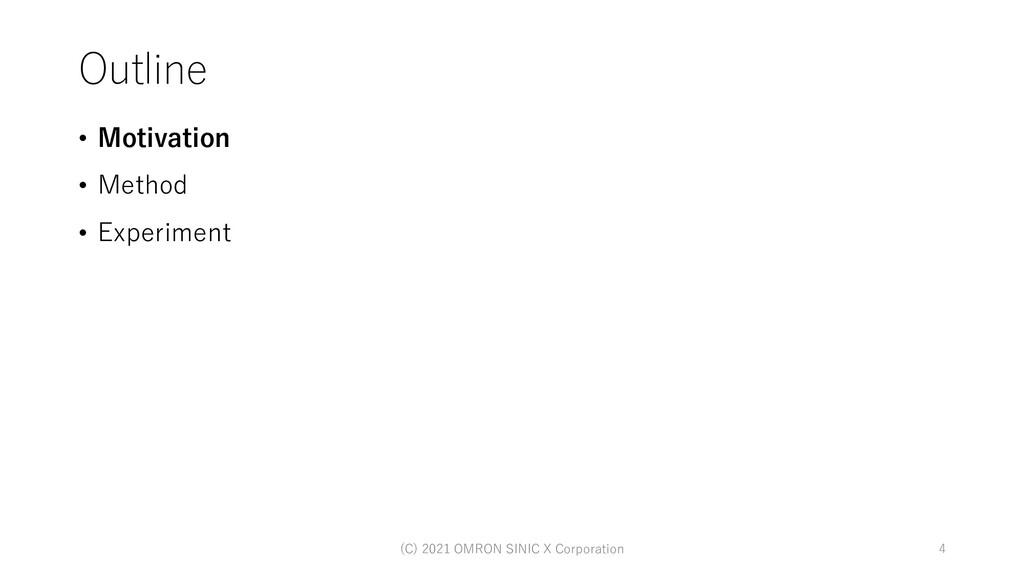 Outline • Motivation • Method • Experiment 4 (C...